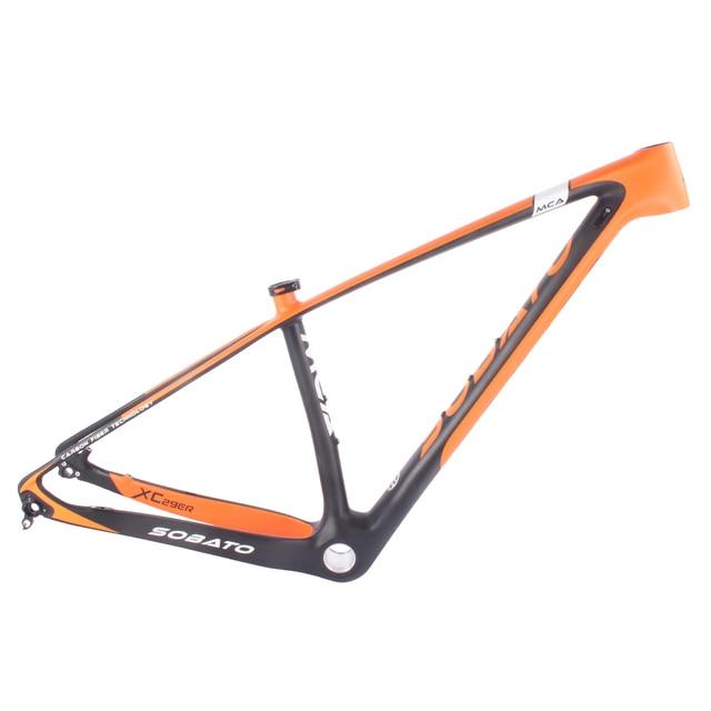 mtb frame 29er carbon fiber mountain bike hardtail frame size 1517 - Mountain Bike Frame Size