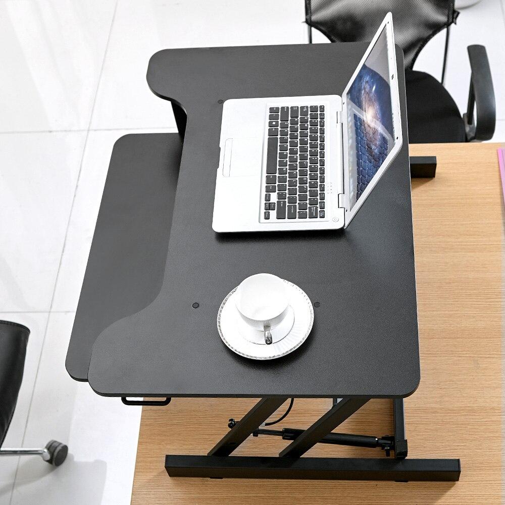 Регулируемая высота стоял Рабочий стол с пружинным Riser конвертер компьютерные столы - 5