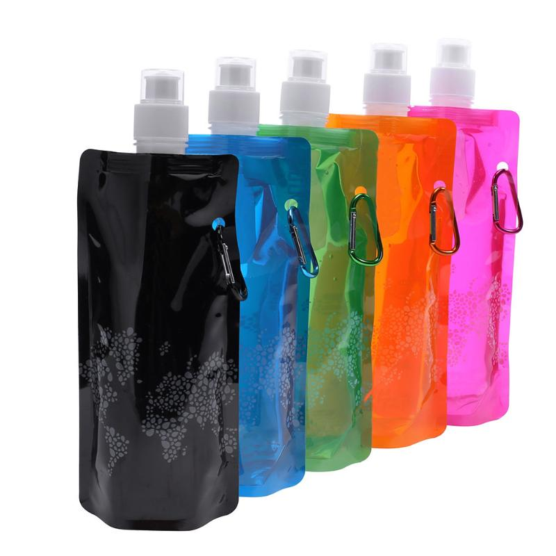 Portable Ultralight Foldable Silicone Water bag Water Bottle Bag Outdoor Sport Supplies Hiking Camping Soft Flask Water Bag NEW