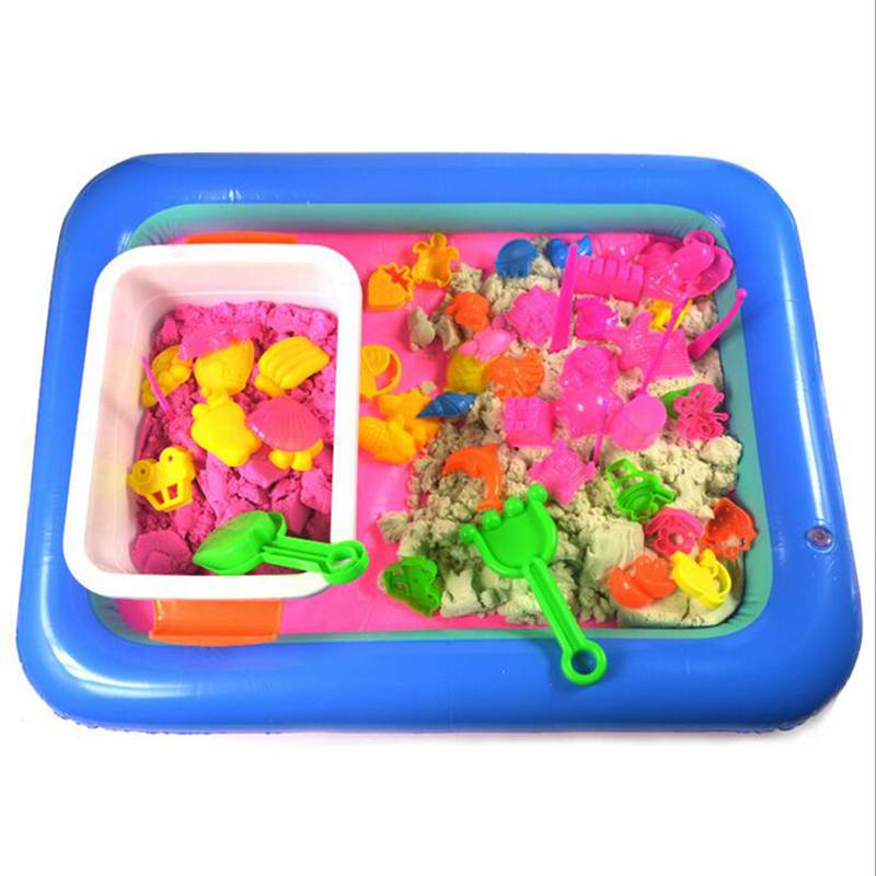 60*45cm Inflatable Sand Tray Random Color PVC Mobile Table Toy For Little Children Outdoor/indoor Playing Sand Table Plastic Toy