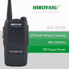 HIROYASU IM-2410 7Watt UHF 400-520MHz Walkie Talkie with flashlight and 4250mAh High Capacity Li-ion Battery Pack