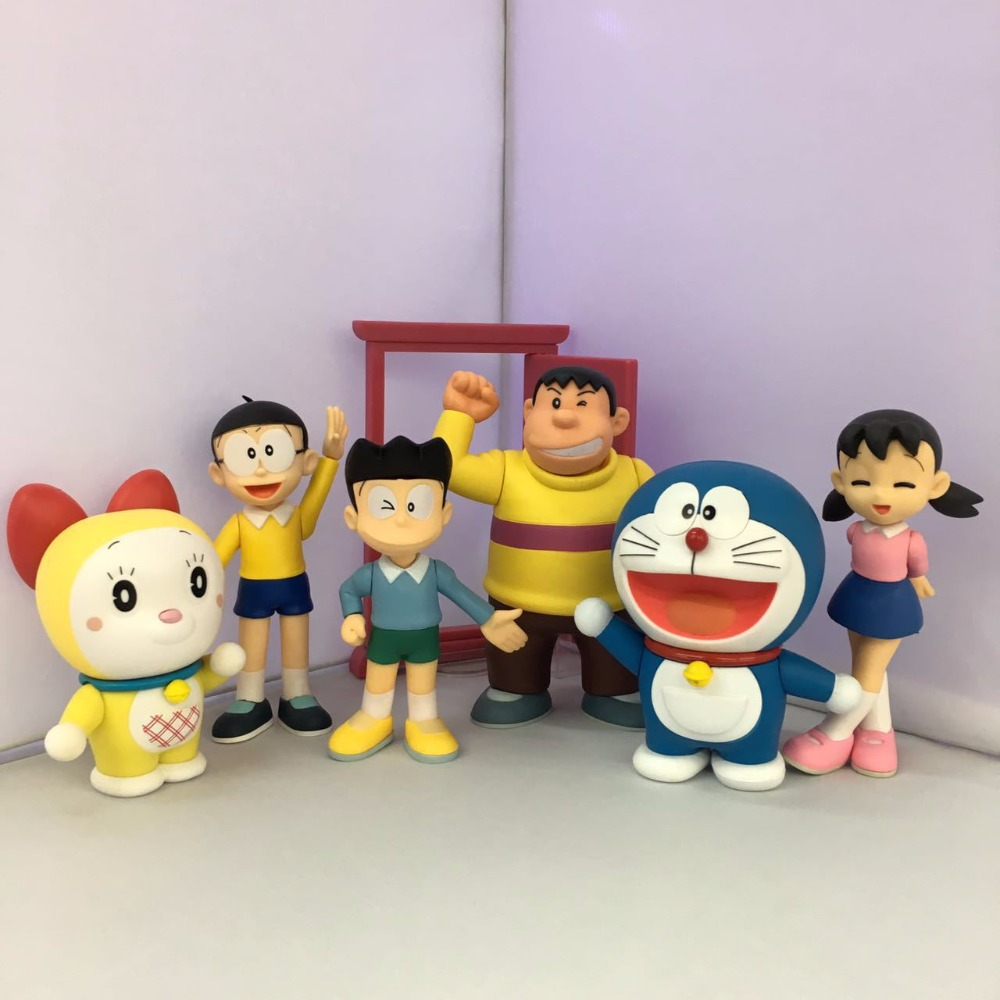 Figuarts ZERO Doraemon Family Nobi Nobita Doraemon Minamoto Shizuka Honekawa Suneo Big G Dorami PVC Action Figure 6pcs/lot 10pcs lot 3d printer ntc thermistor 100 k accuracy 1