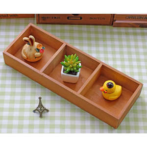 Storage-Box Plant-Tray Wooden Crate Chests Food-Flower Treasure Vintage Three-Lattice