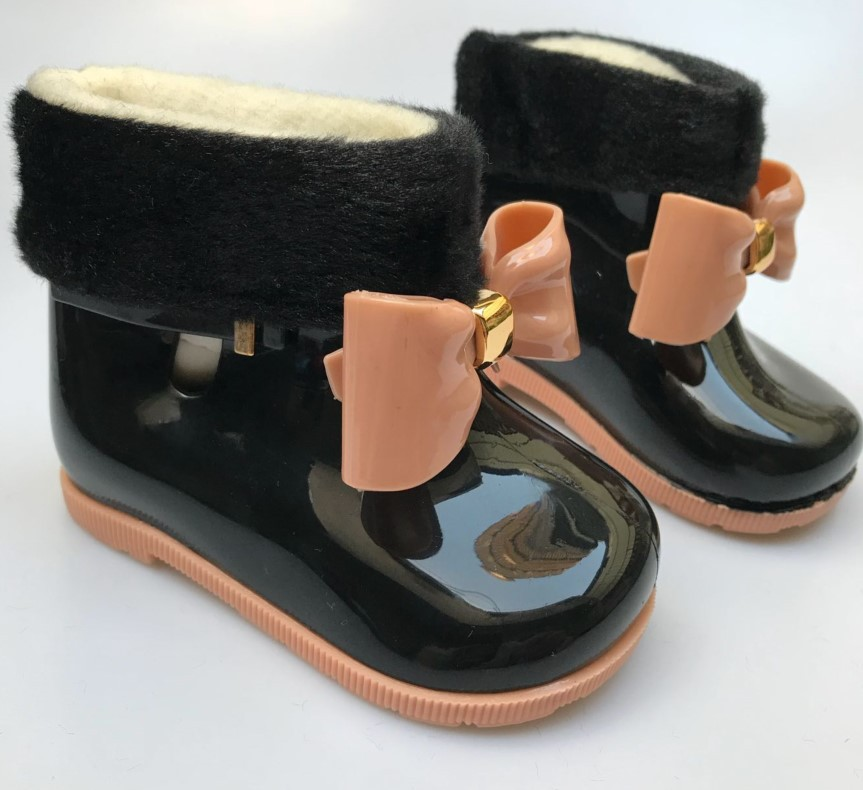 mini sed lovely autumn winter warm girls rain Boots shoes velvet baby todder fashion boot non slip waterproof shoes Sapato