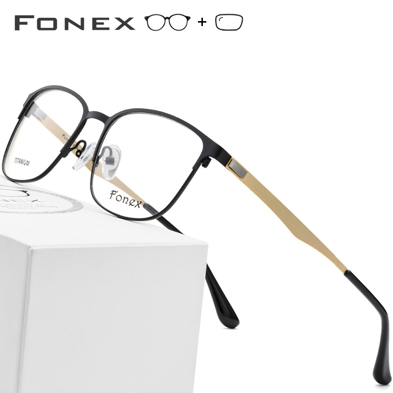 FONEX Titanium Alloy Prescription Glasses Women Vintage Round Eyeglasses 2019 Frames