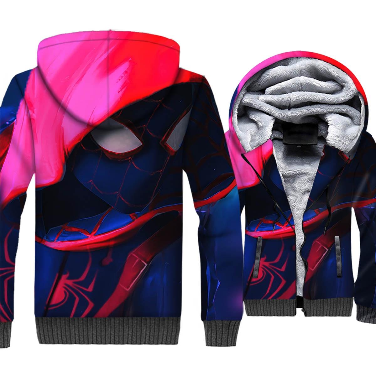 Autumn Winter Brand Clothing Streetwear Hoodies For Men 2018 Hot Thick Coats Spiderman Super Hero 3D Sweatshirt Harajuku Hoodie