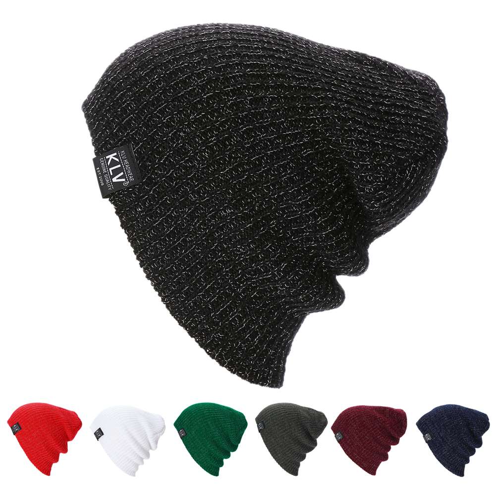 где купить Hot Sale Women Men Unisex Knitted Winter Cap Casual Beanies Solid Color Hip-hop Snap Slouch Skullies Bonnet beanie Hat по лучшей цене