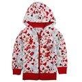 Branco vermelho crianças hoodies crianças jaqueta desgaste zipper ano novo Camisolas para meninas adolescentes do bebê ternos esportivos roupas de algodão