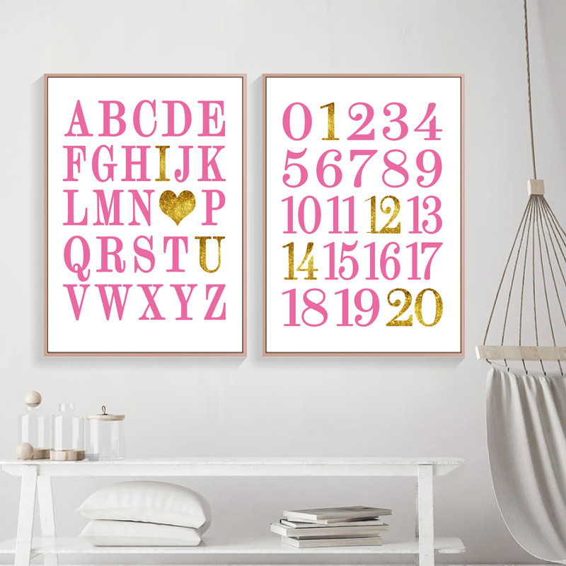 Baby Nursery Art Print Dog Abc Nursery Decor Alphabet Print: Alphabet And Numbers Prints Nursery Printable Decor ABC