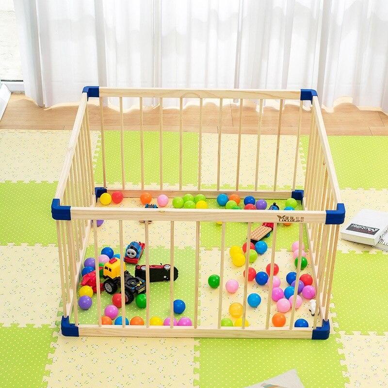 Parc pour bébé pliable clôture de jeu intérieure extérieure parc pour enfants en bois massif parc pour bébé