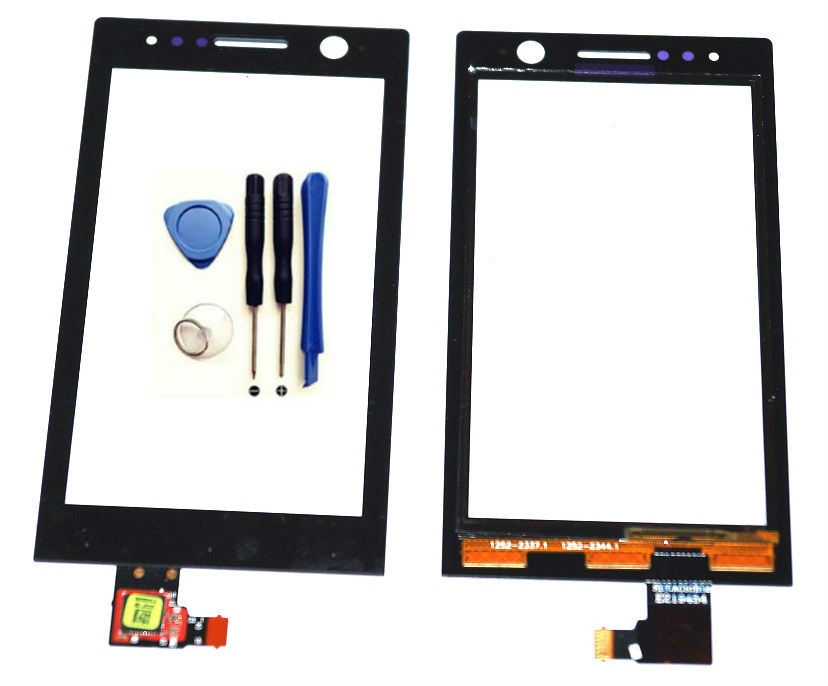 Touch Screen Digitizer	Black	For	Sony Xperia U ST25i	Mobile Phone Touch screen	(free	+3m Tape+Opening Repair Tools+glue	)
