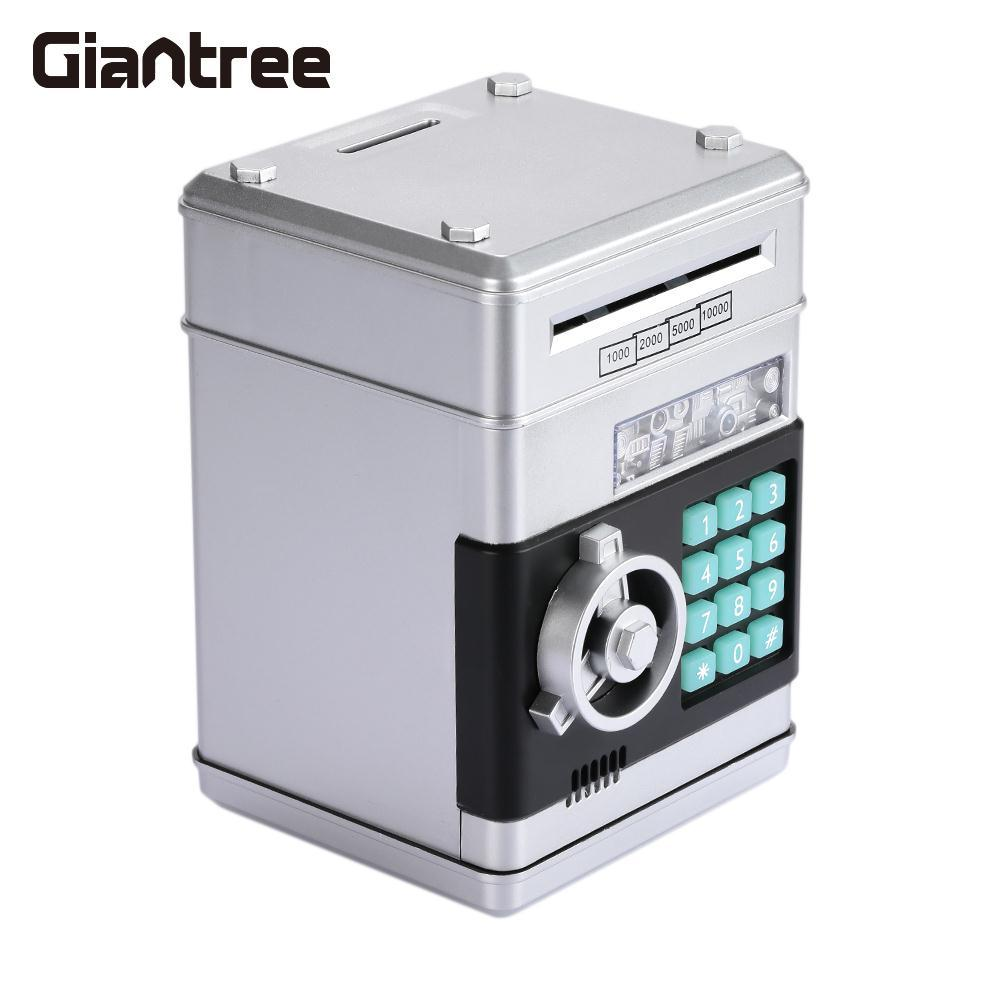 giantree Bank ATM Password safe Box Cartoons Container Secret Case Box Home Silvery safe Box Money storage box Children gift
