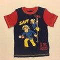 Natal das crianças roupas camisa dos miúdos do bebê da menina do menino roupas fireman sam traje camisetas para meninos partes superiores das meninas roupas t camisa