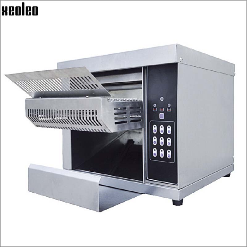 XEOLEO Conveyor toaster Toast roasted machine Electric Toaster oven Commercial stainless steel Desktop oven 2600W Toaster Ovens     - title=