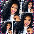 Горячая! Класс 7а необработанные девы малайзии волос глубокая волна 4 пучок малайзии глубокая вьющиеся волосы натуральный черный 100% человеческих мелирование волос