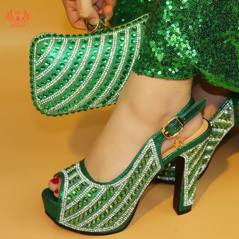 bleu Rose Couleur Sandales or rose D'été Italien Mariage De Pour vert Fête Haute Design Noir Ensembles La Ensemble Et Chaussures Sac Africaine Talon Africains rrqSFdR
