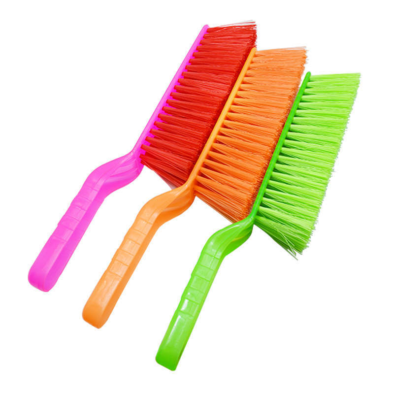 DoreenBeads Plastic Shoe Clothes Brush For Bed Sofa Carpet Cleaning Tool Dust Removal Long Handle Random Color 31cm Long 1PC