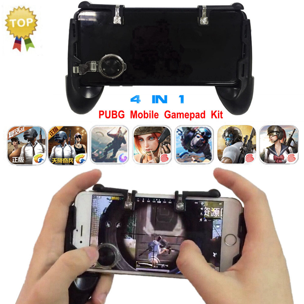 PUBG Mobile Gamepad L1R1 Fortnite Game Controller Joystick Android Phone L1 R1 Free Fire PUGB Mobile Button Trigger for iPhone