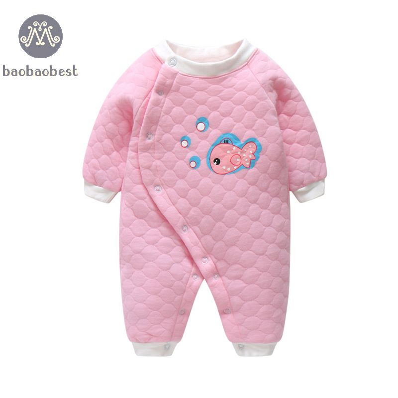 New Baby Boy Girl Romper Clothes Sun SHARK Baby Clothing Winter Cotton jumpersuit