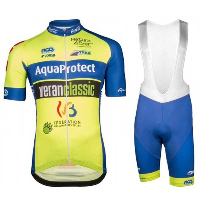 2018 Aqua Protect cycling jersey uci team champion Team ropa ciclismo  bicycle back pockets and gel 05b582f71