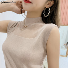 New Camisole Women Knitted Sexy Vest Top Sleeveless Casual Hollow Out Tank Tops Woman Summer Tops Elasticity Solid Slim Pullover(China)