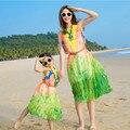 2017 семья посмотрите мать дочь соответствие платья мода женщины длинные шифон платье для пляжа летний отдых девушка вечернее платье