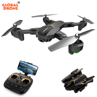 GLOBAL DRONE VISUO XS809HW Upgrade XS812 GPS Drone Folding Selfie Dron with HD FPV Camera Quadrocopter RC Drones with Camera HD