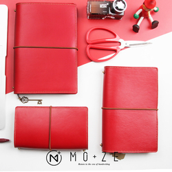 2018 Yiwi Red Sheepskin Genuine Leather Travel Notebook Bind Diary Notebook  Office Stationery