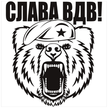 CK2586#16.4*15cm Glory of the Airborne Forces funny car sticker vinyl decal slver/black auto stickers for bumper window