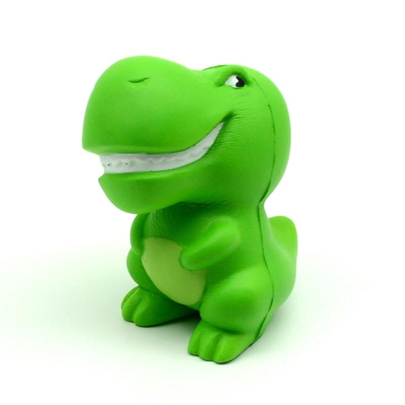 Kawaii Jumbo Green Cartoon Dinosaur Squishy Slow Rising Squeeze Toys PU Simulation Stress img4