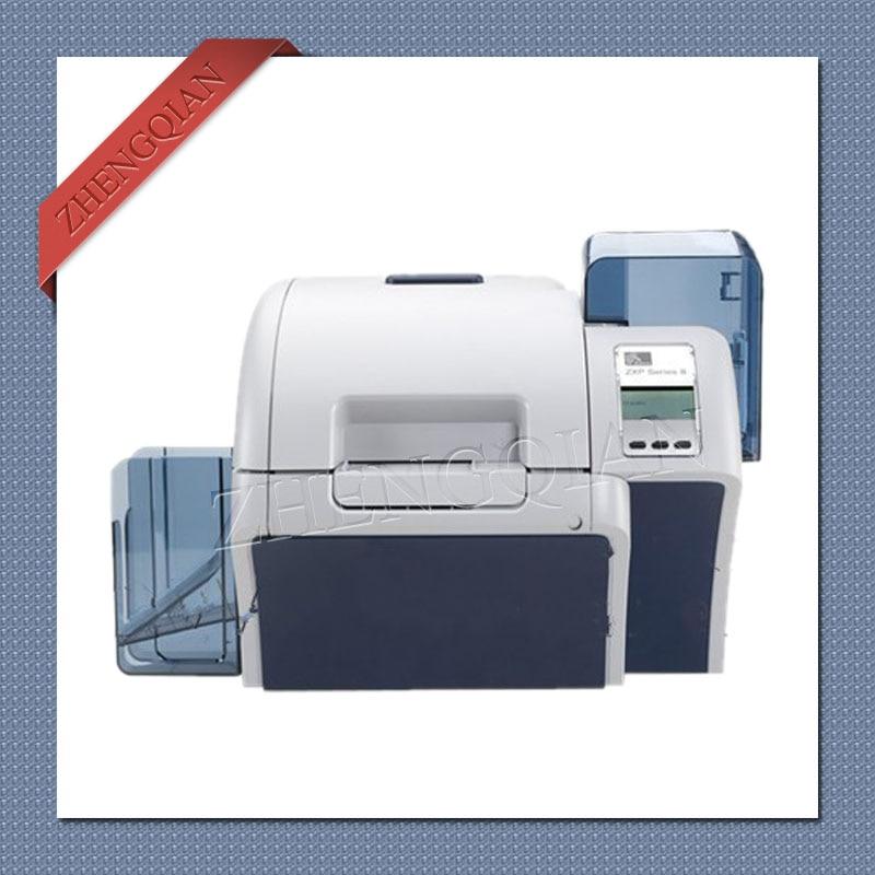 High security Zebra ZXP8 id pvc card printer dual sided with one Zebra 800012 445 and two Zebra 800012 601