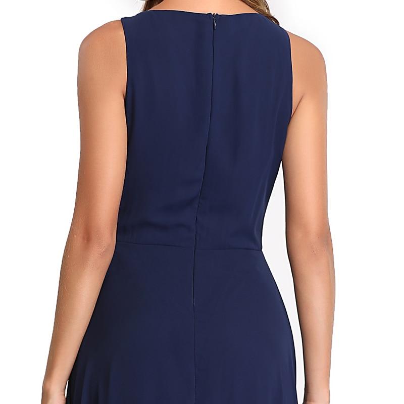 Elegant See-Through Appliques Chiffon Long Evening Dress 6