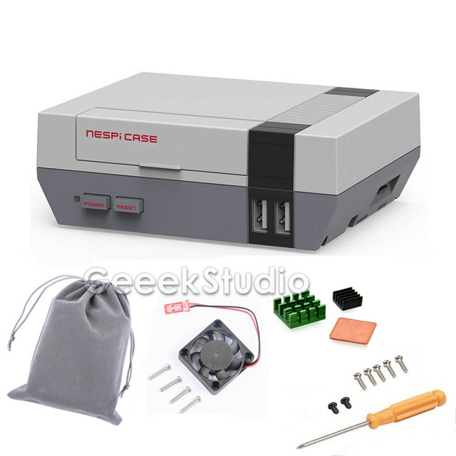 New in stock! Mini NES NESPI CASE, Retroflag Nespi Case with Cooling Fan Designed for Raspberry Pi 3 / 2 / B+