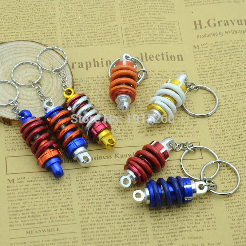 Super good quality Metal Key Chain Motorcycle Turbine Bag Car Ornaments Car Auto Tuning Parts Shock