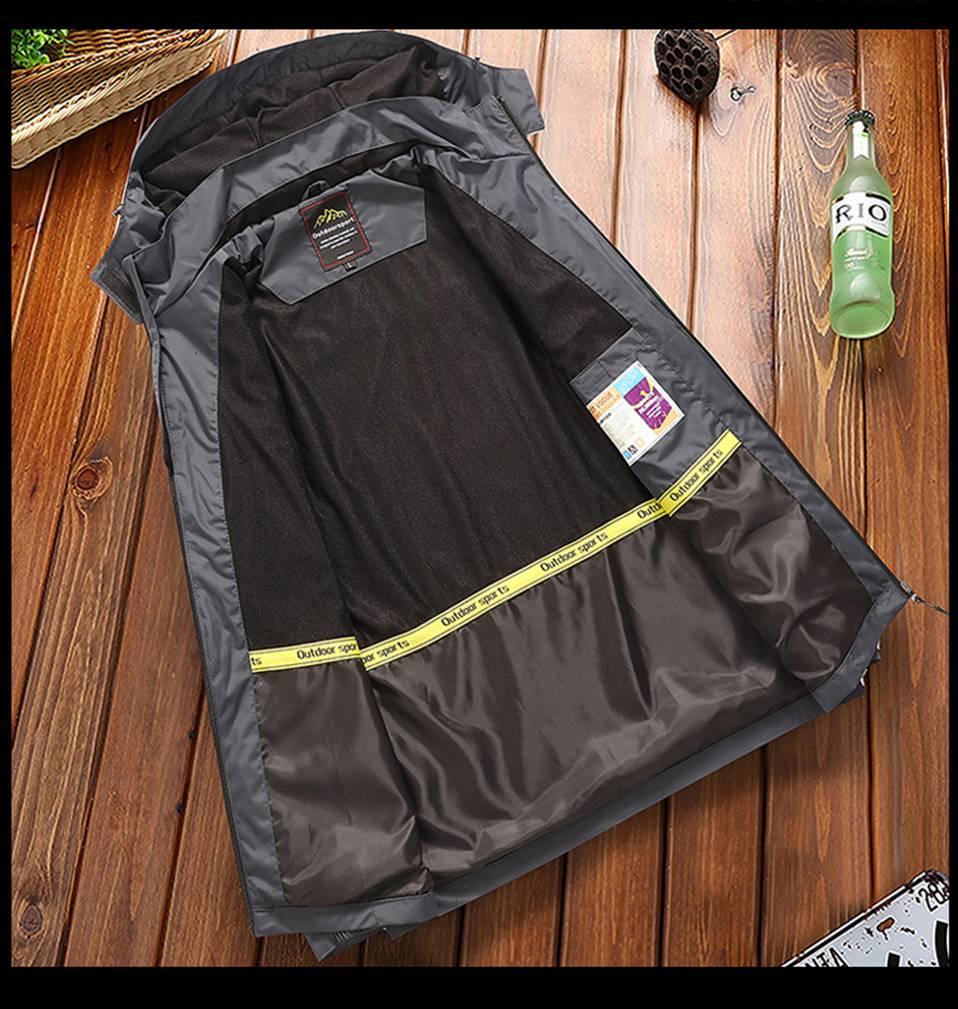 2019 Spring Autumn outdoor Sports Windbreaker Men Plus Size Camping Hiking Rain Waterproof Jacket SoftShell Fishing Coats 4XL (8)