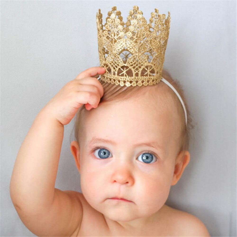 1PC Hot Sale New Style Children's Crown Headbands Hot Sale Birthday Party Hair Accessories BeBe Kids Children Headwear Gifts