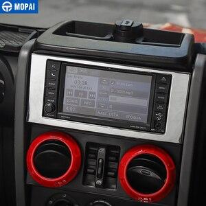 Image 4 - Kit de decoración para el aire acondicionado de navegación Central de para coches MOPAI, pegatinas de cubierta, accesorios para Jeep Wrangler JK 2007 2008 2009 2010