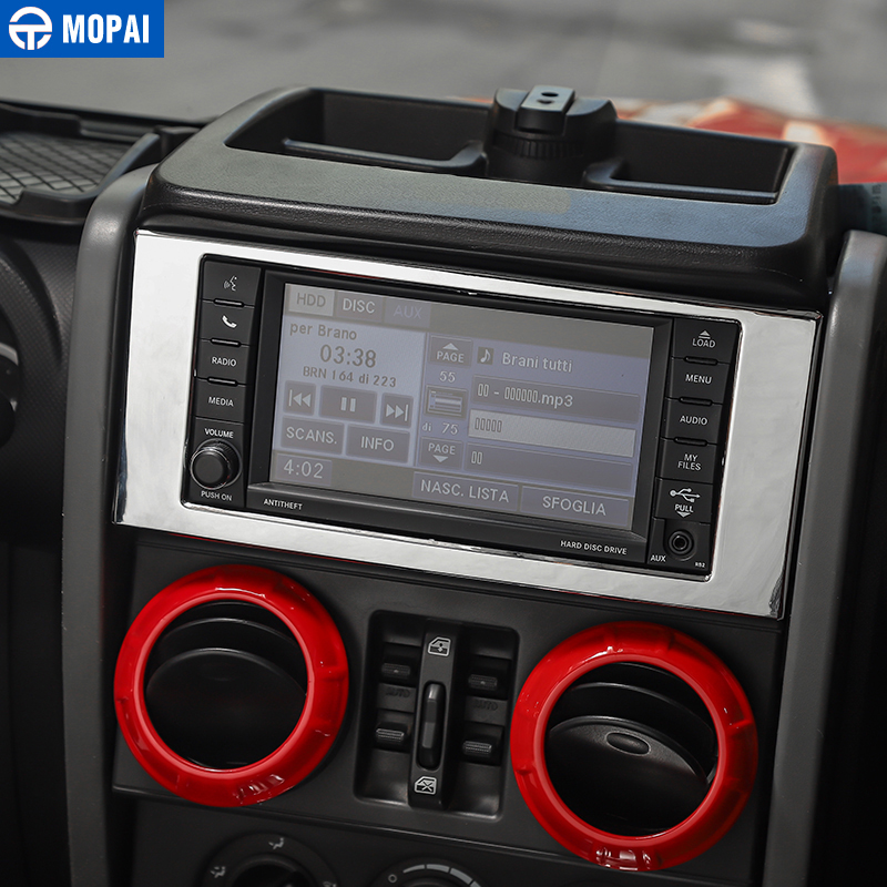 Image 4 - MOPAI Car Interior Stickers for Jeep Wrangler JK 2007 2010 Car Central Navigation Air Condition Decoration Cover Car Accessories-in Automotive Interior Stickers from Automobiles & Motorcycles