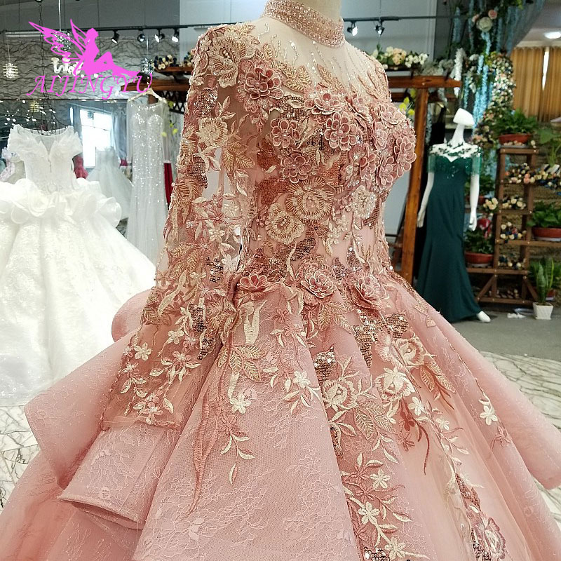 Image 3 - AIJINGYU Ivory Lace Dress Tulle Bridal Gown Long Frocks Store Vintage Korean Modest Gowns Wedding BoutiquesWedding Dresses   -