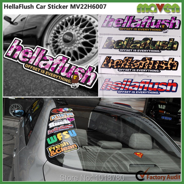 PVC Self Adhesive Animated Car Sticker Decals Decor Styling Cool Color  Inkjet Cars Trucks Logo Stickers
