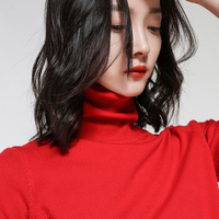 High Quality Elegant Warm cashmere Women Sweaters and Pullovers Winter Autumn Knitted Turtleneck Ladies Sweater 2019