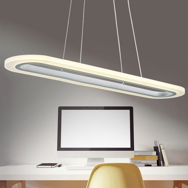 ZX Modern LED Acryl Office Pendant Lamp Simple Dining Room Lights Office Building Chandeliers Living Room Study Lamp LED Chip zx modern round acryl pendant lamp simple restaurant led chip droplight single head study bar shop office lamp free shipping