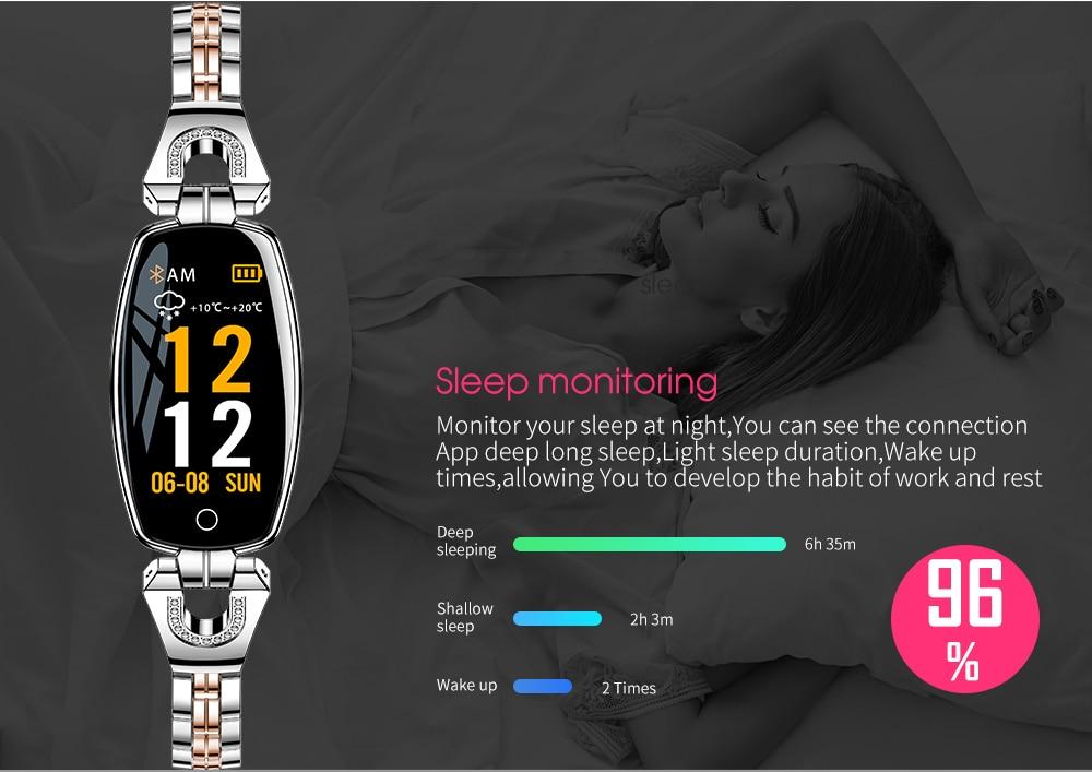 CYUC H8 women smart wristband fitness tracker bracelet Heart Rate Monitor blood pressure oxygen smart band best gift for Lady 9