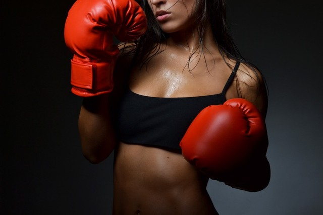 Sexy boxing girl