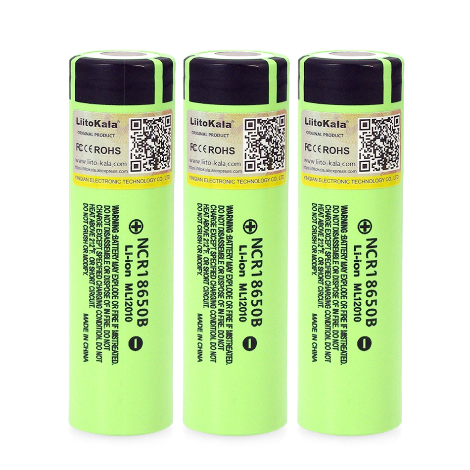 20PCS/lot Liitokala original 18650 3400mAh NCR18650B 3.7V battery Lithium Rechargeable Battery For Flashlight Batteries-in Replacement Batteries from Consumer Electronics    1