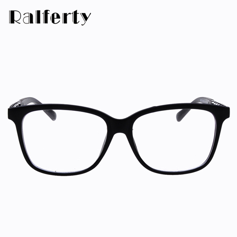 b6a7a27dc47 Ralferty New Fashion Glasses Women Eyeglasses Frame Black Eye Glasses  Vintage Flat Eyewear Frames Brown Leopard Red Spectacles-in Eyewear Frames  from ...