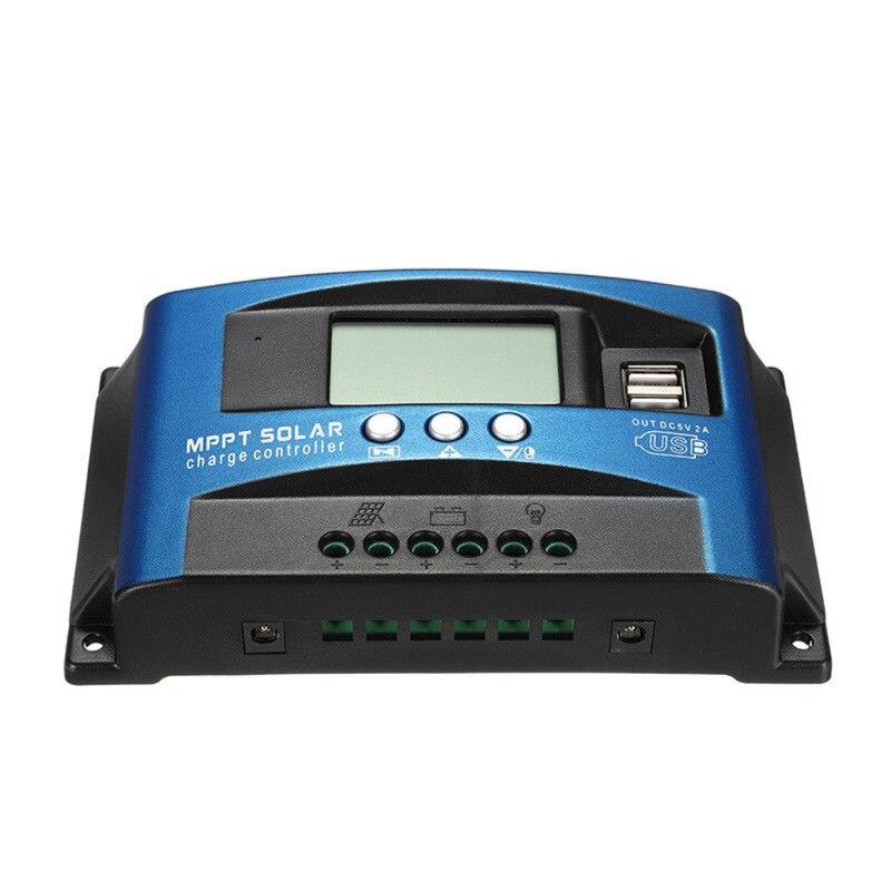 30/40/50/60/100A MPPT Solar Laderegler Dual USB LCD Display 12 V 24 V Auto Solarzelle Panel Ladegerät Regler Mit Last