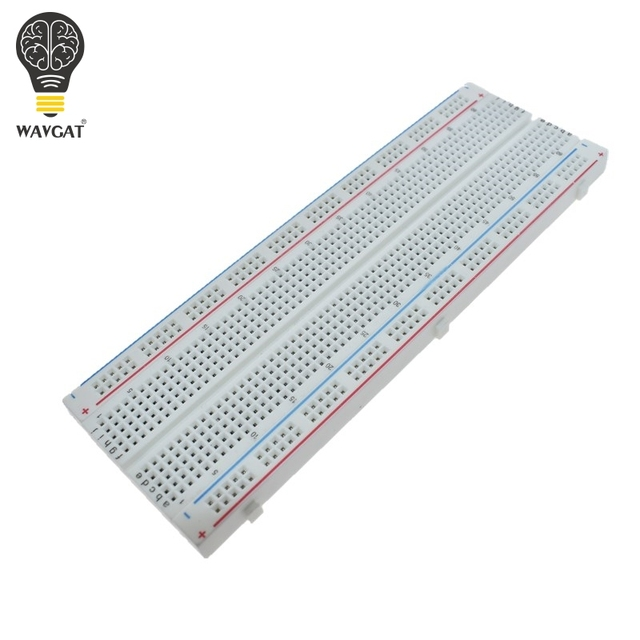 wavgat high quality breadboard 830 point solderless pcb bread boardwavgat high quality breadboard 830 point solderless pcb bread board mb 102 mb102 test develop