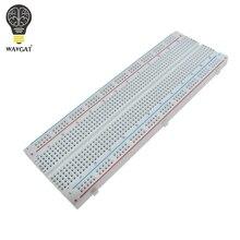 WAVGAT yüksek kaliteli Breadboard 830 nokta lehimsiz PCB ekmek tahtası MB 102 MB102 testi DIY geliştirin