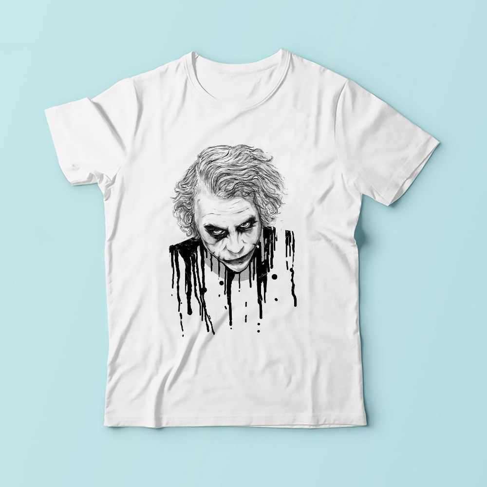 """Джокер из """"Темного рыцаря"""" Забавные мужские футболки 2019 летняя новая белая Повседневная футболка с короткими рукавами homme cool"""